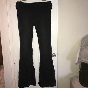 Free People High Waist Flare Black Jeans
